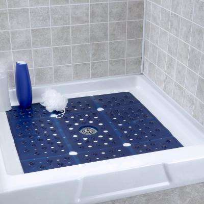 27 in. x 27 in. Extra Large Square Shower Mat in Navy