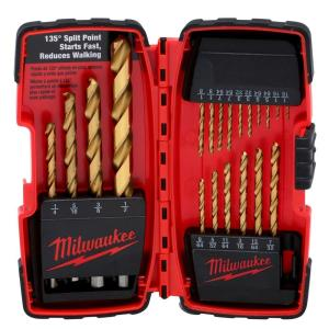 Milwaukee Titanium Coated Twist Drill Bit Set (20-Piece) by Milwaukee