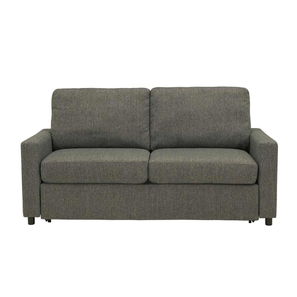 Estes Park Sleeper Sofa in Renu Performance Tested Charcoal Gray Textured