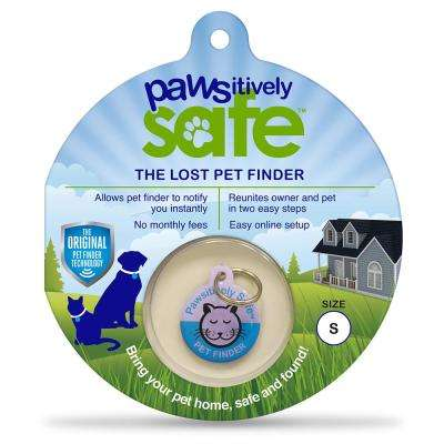 Small Blue Lost Pet Finder Tag for Cats