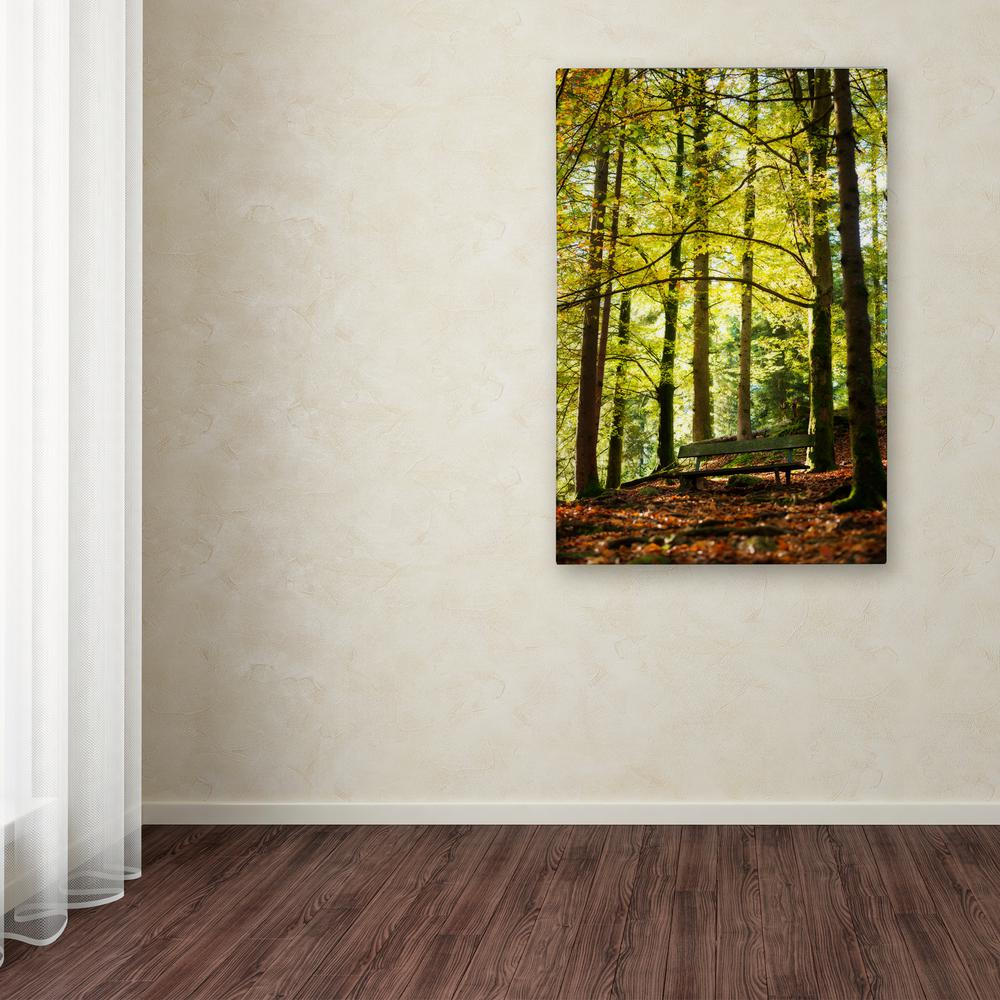 "47 in. x 30 in. ""Pause"" by Philippe Sainte-Laudy Printed Canvas"