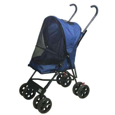 15.5 in. x 11 in. x 23 in. Navy Travel Lite Pet Stroller