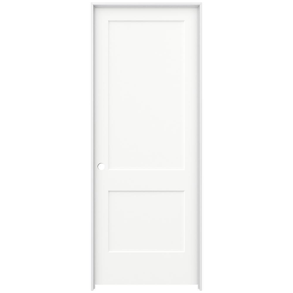 Jeld Wen 36 In X 96 In Monroe White Painted Right Hand Smooth Solid Core Molded Composite Mdf