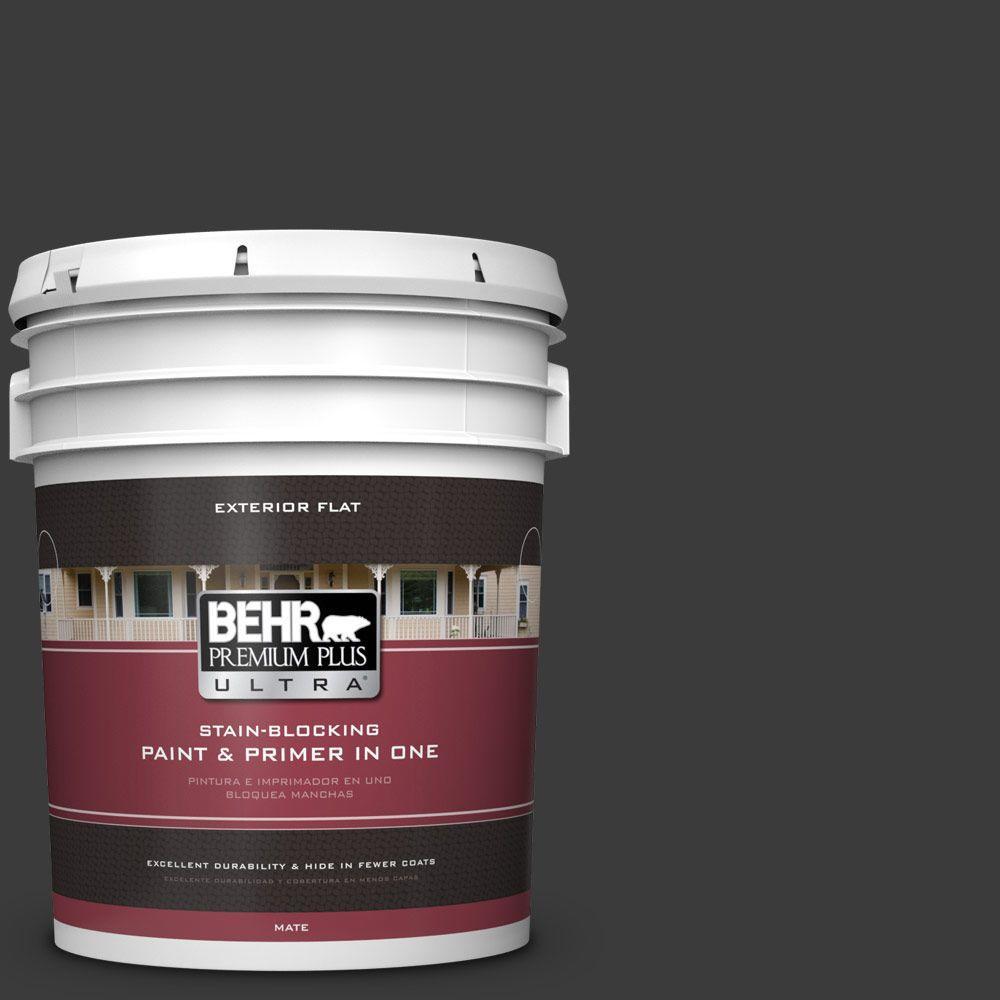 BEHR Premium Plus Ultra 5-gal. #770F-7 Beluga Flat Exterior Paint