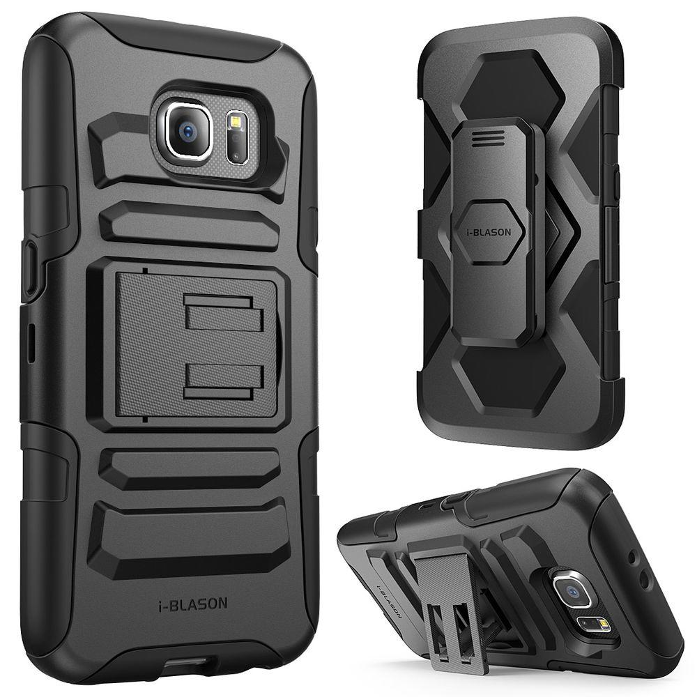 Rugged Holster Case for Galaxy S6, Prime Black