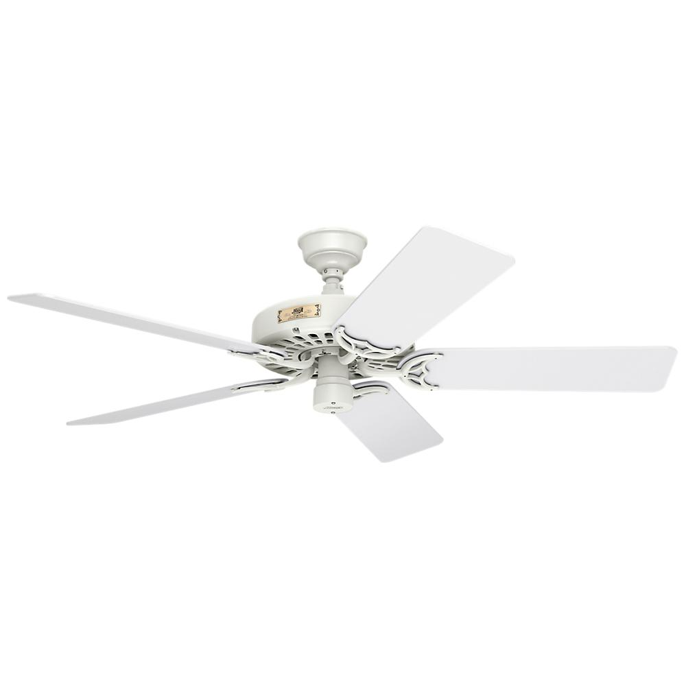 Hunter original 52 in indoor outdoor white ceiling fan for Hunter ceiling fan motor