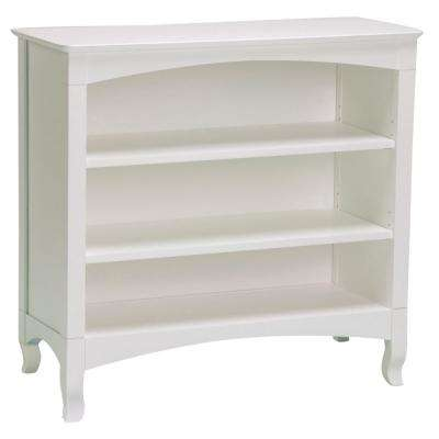 Emma White Low Bookcase