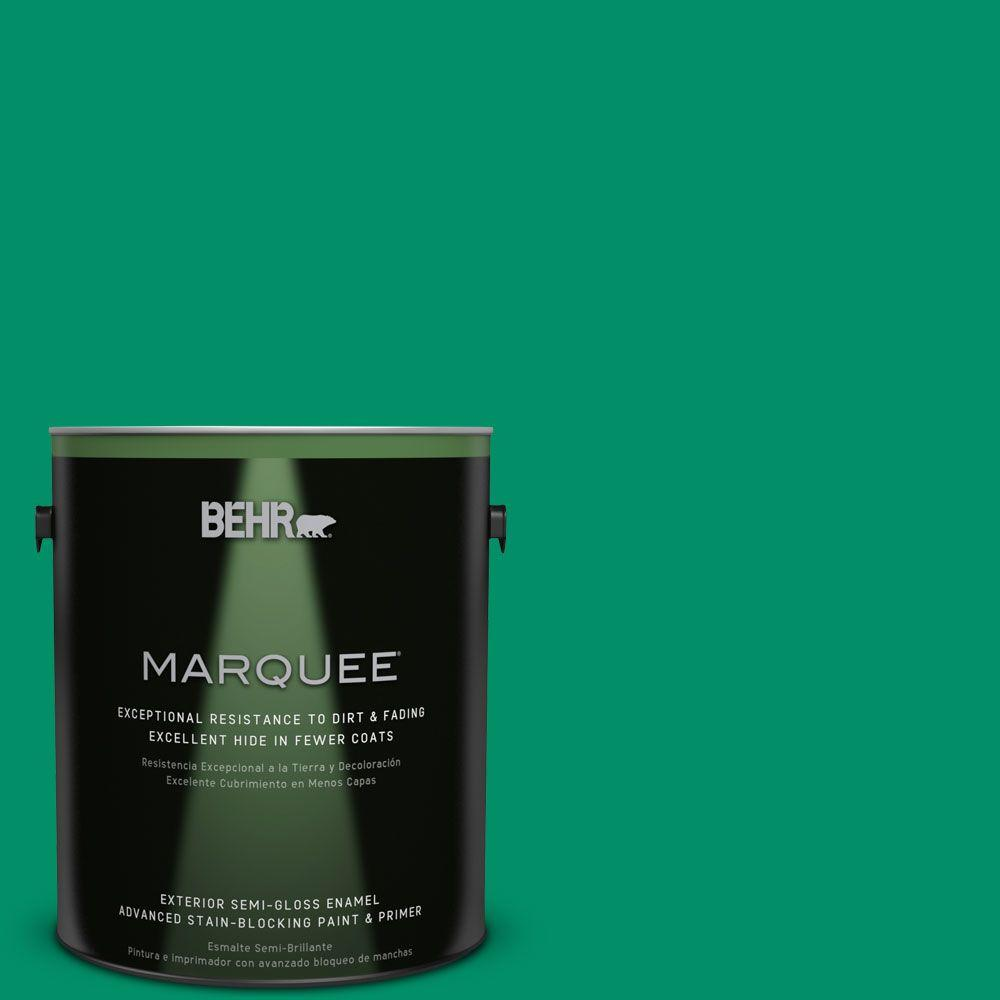 1 gal. #MQ4-15 Balsam Semi-Gloss Enamel Exterior Paint and Primer in