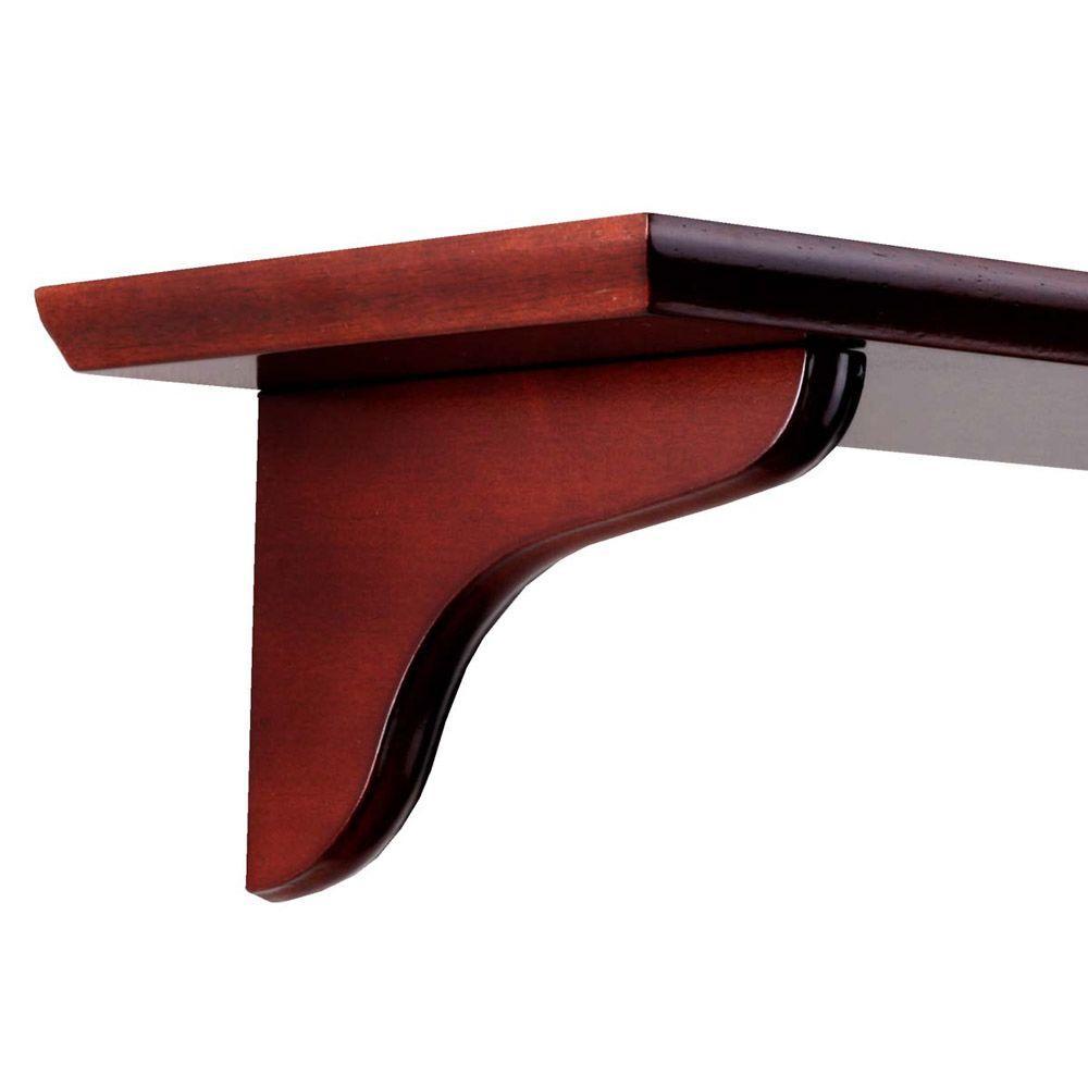 7 in. Cherry Wood Decorative Shelf Corbel