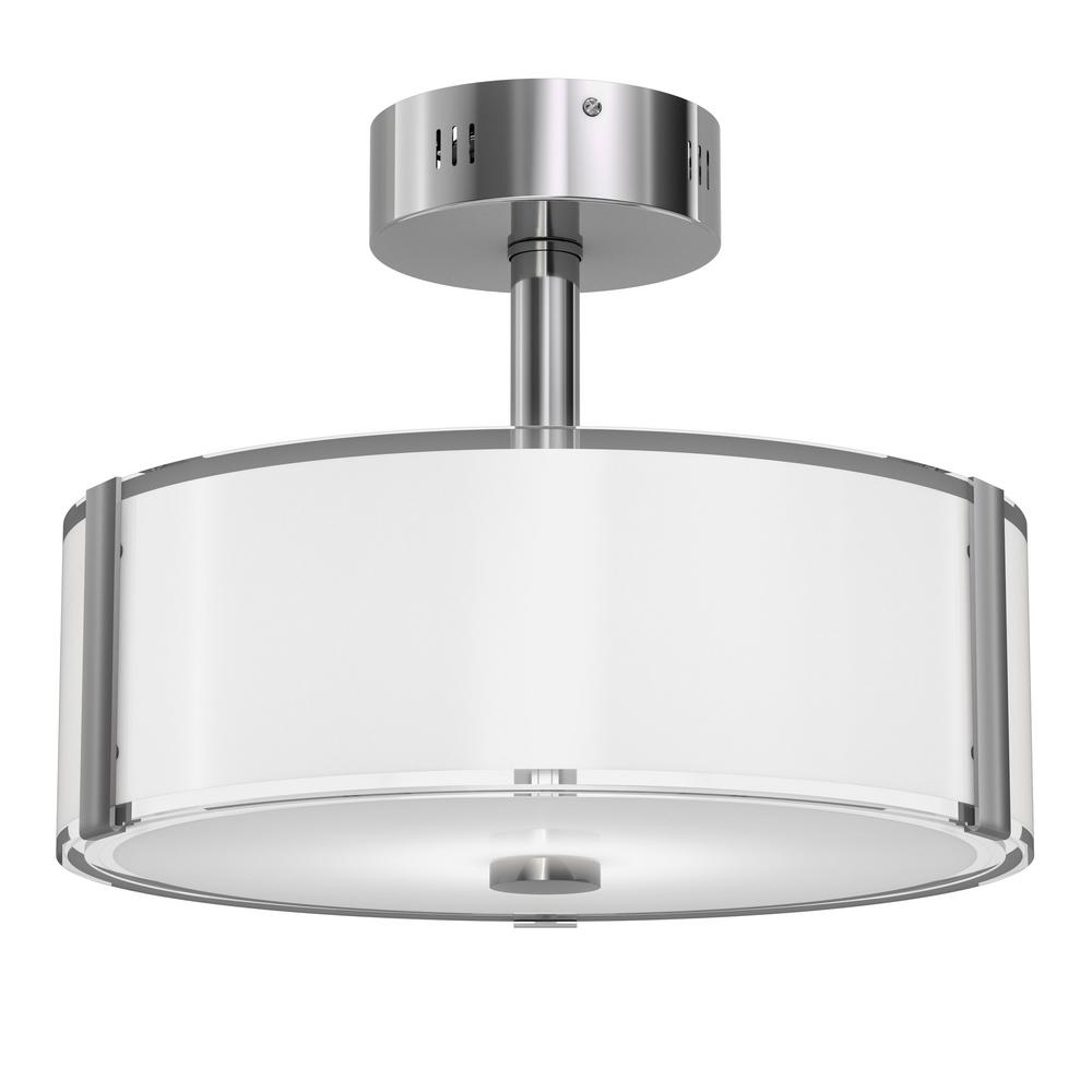 Artika Zane 13 in. 22-Watt Chrome Integrated LED Semi-Flush Mount was $64.99 now $49.97 (23.0% off)