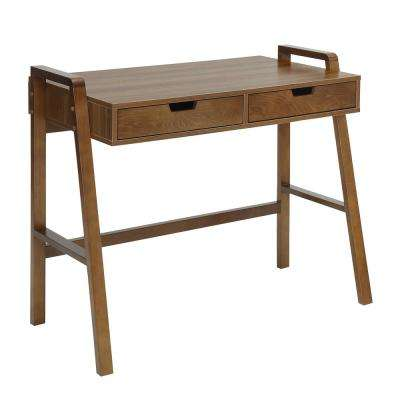Charles Natural Walnut Small Office Desk