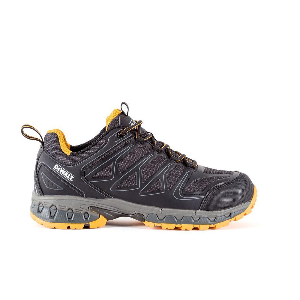 Boron Men Size 14(W) Black/Yellow Aluminum Toe Athletic Work Shoe