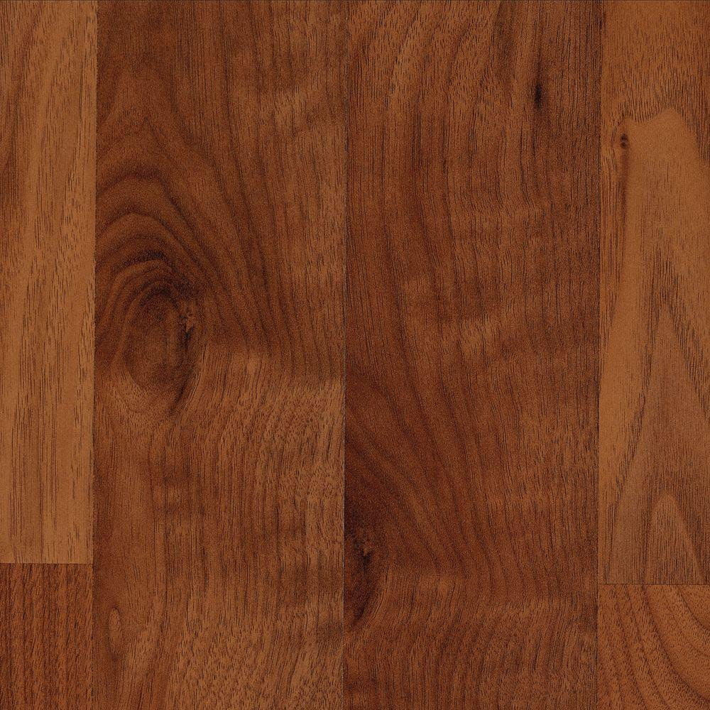 Mohawk Brentmore Amber Walnut Laminate Flooring - 5 in x 7 in. Take Home Sample
