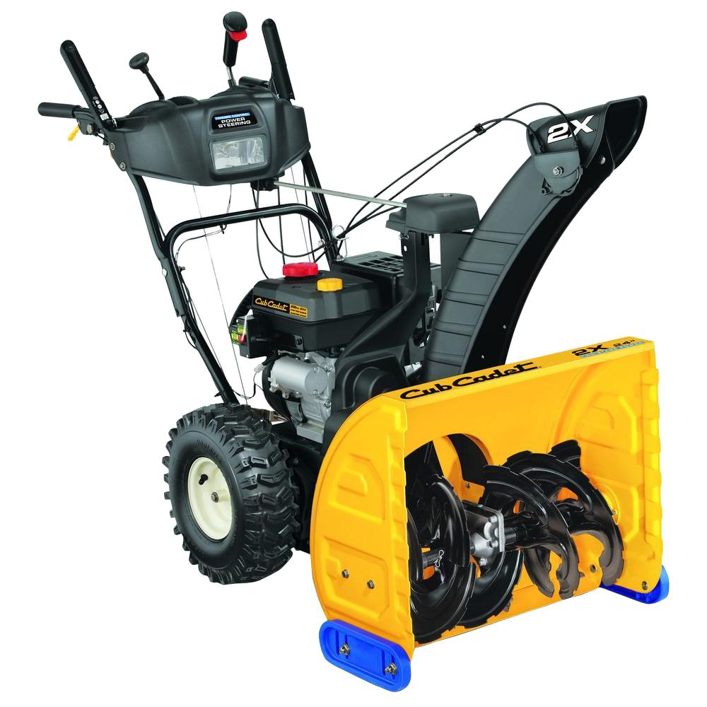 cub cadet 24 in 208cc 2 stage electric start gas snow blower with