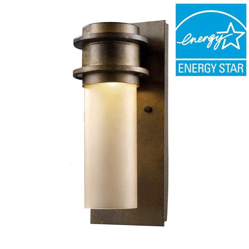 titan lighting freeport hazelnut bronze outdoor led wall sconce-tn-5307