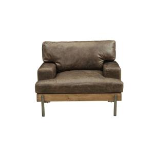 Acme Furniture Silchester Distressed Chocolate Top Grain Leather ...
