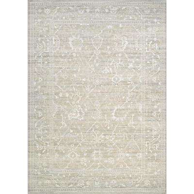 Everest Persian Arabesque Bone 8 ft. x 11 ft. Area Rug