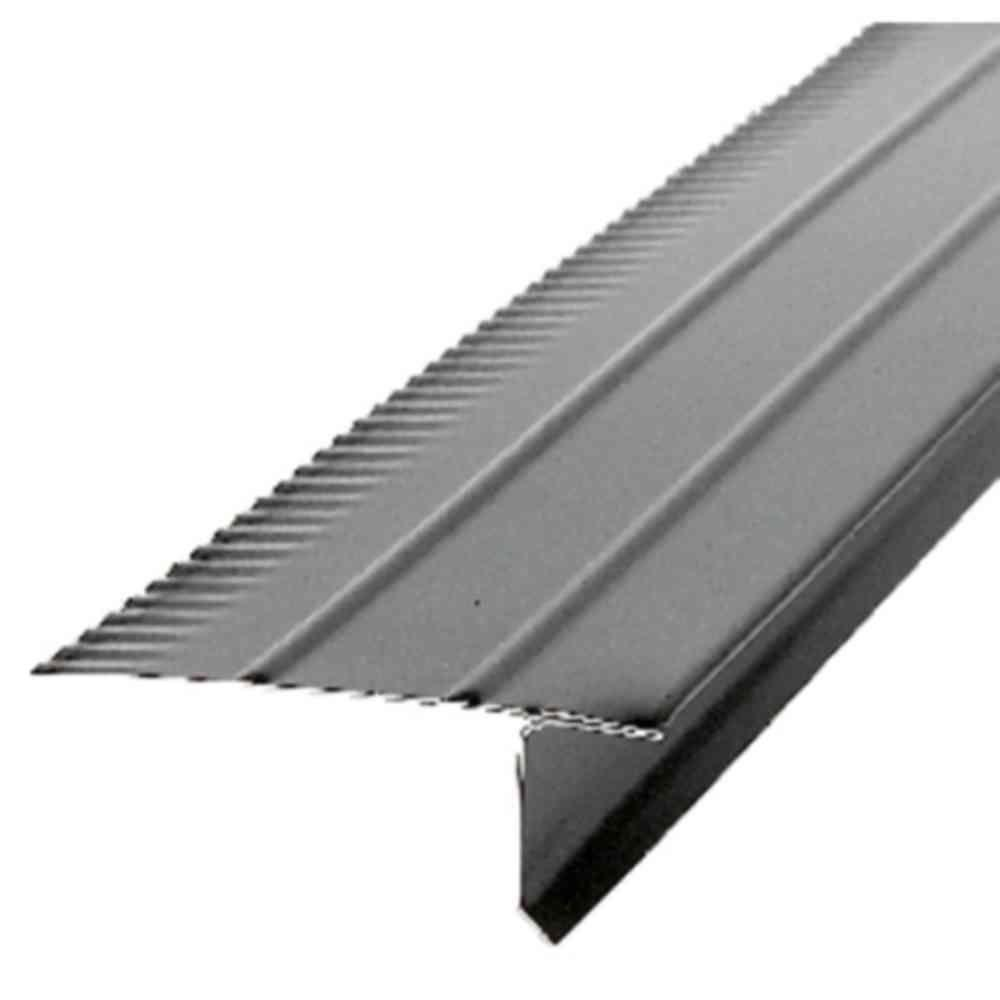 10 ft. Galvanized Steel Black Drip Edge Flashing