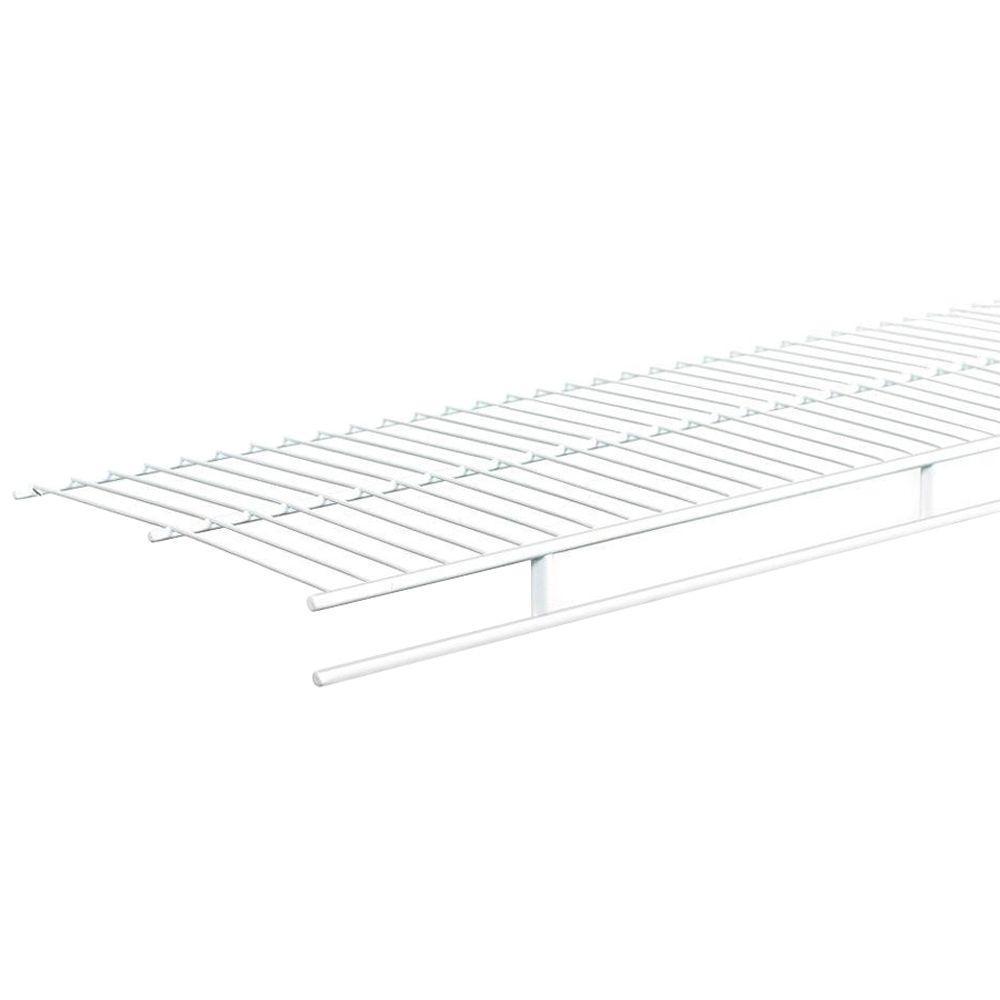 144 in. x 12 in. Steel Ventilated Wardrobe Wall Mounted Shelf