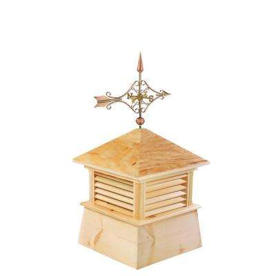 Kent 26 in. x 26 in. x 54 in. Wood Cupola with Cottage Victorian Arrow