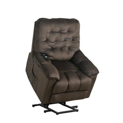 Brown Vintage Power Lift Soft Upholstery Recliner Sofa Chair with Remote