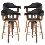 Today's Mentality Victoria 26 in. Black Barstool (Set of 4)