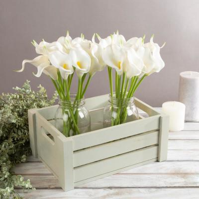 White Artificial Calla-Lily Flowers with Stems (24-Pack)