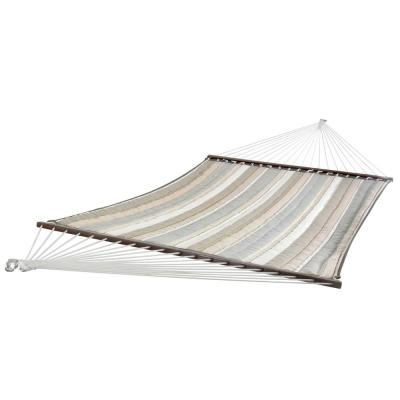 12 ft. Sunbrella Quilted Outdoor Double Hammock Bed in Dove