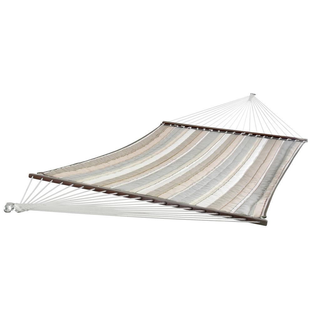 12 ft. Sunbrella Quilted Outdoor Double Hammock Bed in Dove