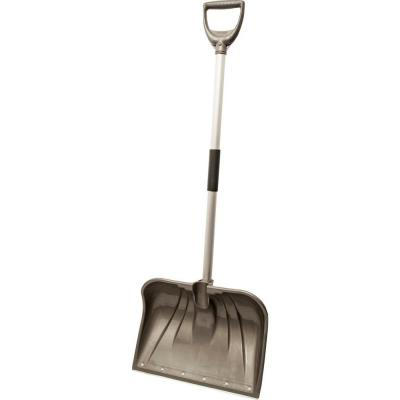 18 in. Aluminum Handle and Poly Combo Blade with Wearstrip Snow Shovel