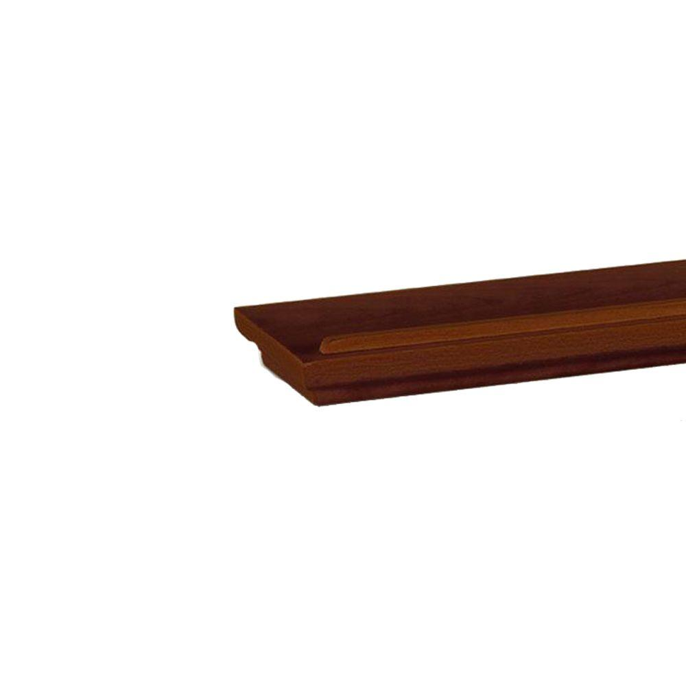 Home Decorators Collection 60 in. L x 4.5 in. W Mantle Chocolate Floating Wall Shelf
