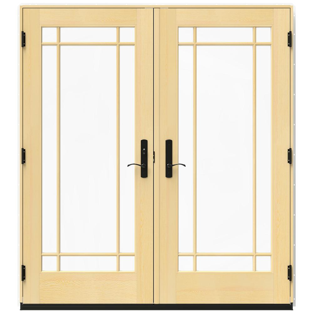 Jeld wen in x 79 5 in w 4500 brilliant white right for Wood patio doors home depot