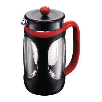Young 8-Cup Red and Black French Press Coffee Maker