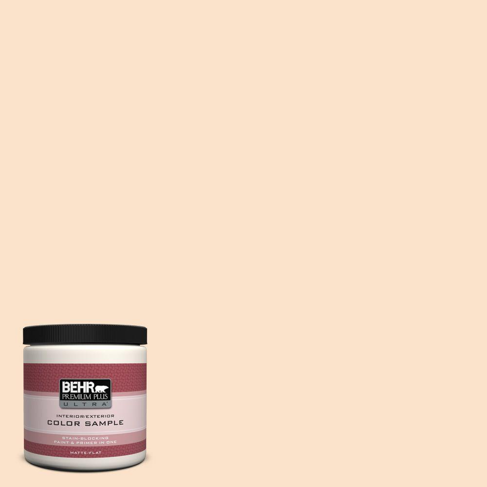 BEHR Premium Plus Ultra 8 oz. #M250-1 Frosting Cream Interior/Exterior Paint Sample