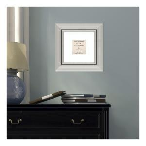 Amanti Art Romano 4 inch x 4 in White Matted Silver Picture Frame by Amanti Art