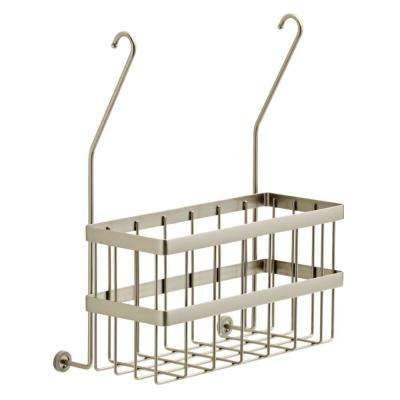 Over-the-Towel Bar Basket in Brushed Nickel