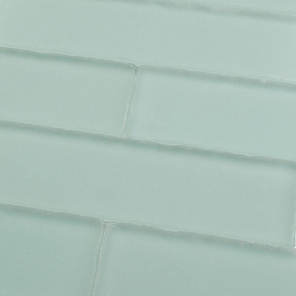 Splashback Tile Ocean Aqua Beached Frosted Glass Subway Tile - 2 ...