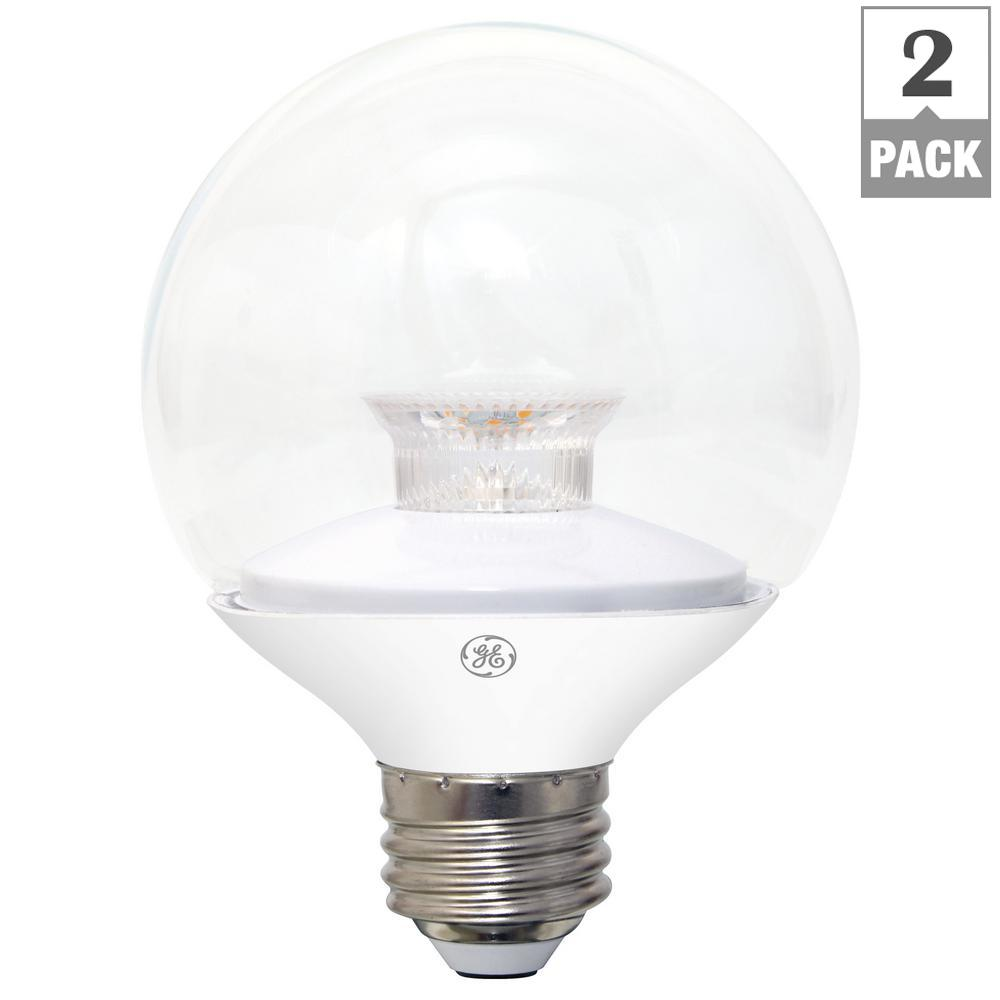 Ge 45w equivalent 5 colors in 1 par38 clear green red blue or 60w equivalent soft white 2700k high definition g25 globe clear dimmable arubaitofo Images