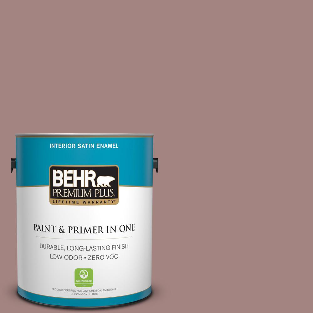 BEHR Premium Plus 1-gal. #700B-4 Muse Zero VOC Satin Enamel Interior Paint