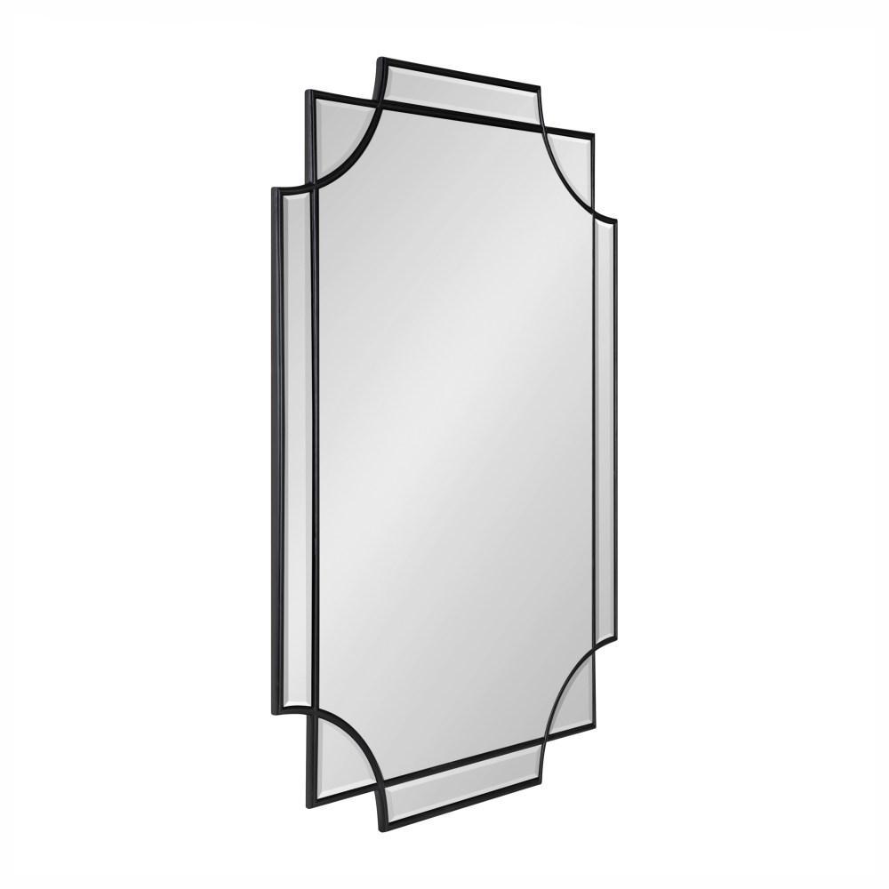 Medium Rectangle Black Beveled Glass Classic Mirror (36 in. H x 24 in. W)