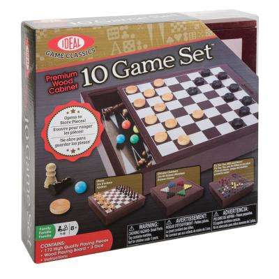 Premium Wood Cabinet 10 Game Set