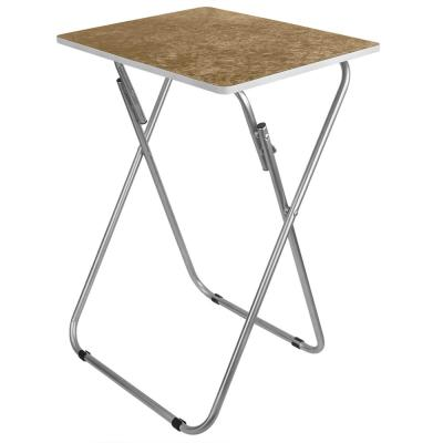 Brown Marble Multi-Purpose Foldable Table