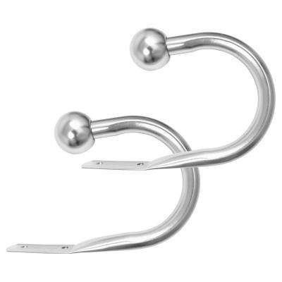 1 in. Steel Holdback in Essential Satin Nickel (Set of 2)