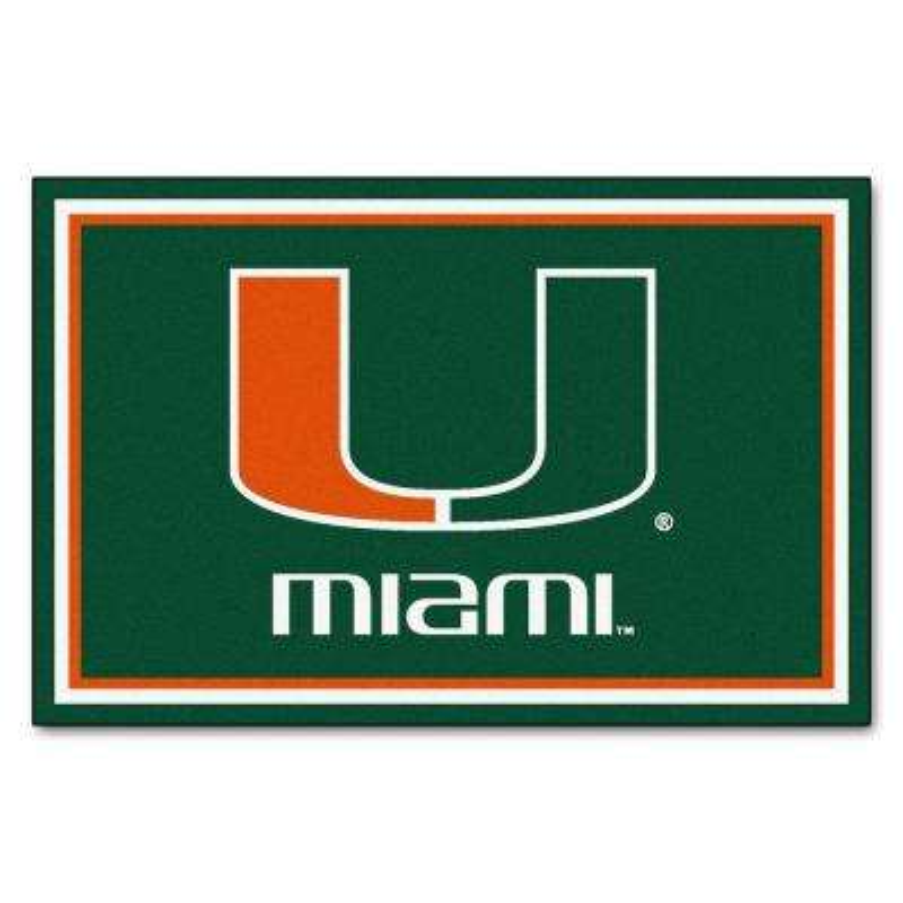 University of Miami 5 ft. x 8 ft. Area Rug