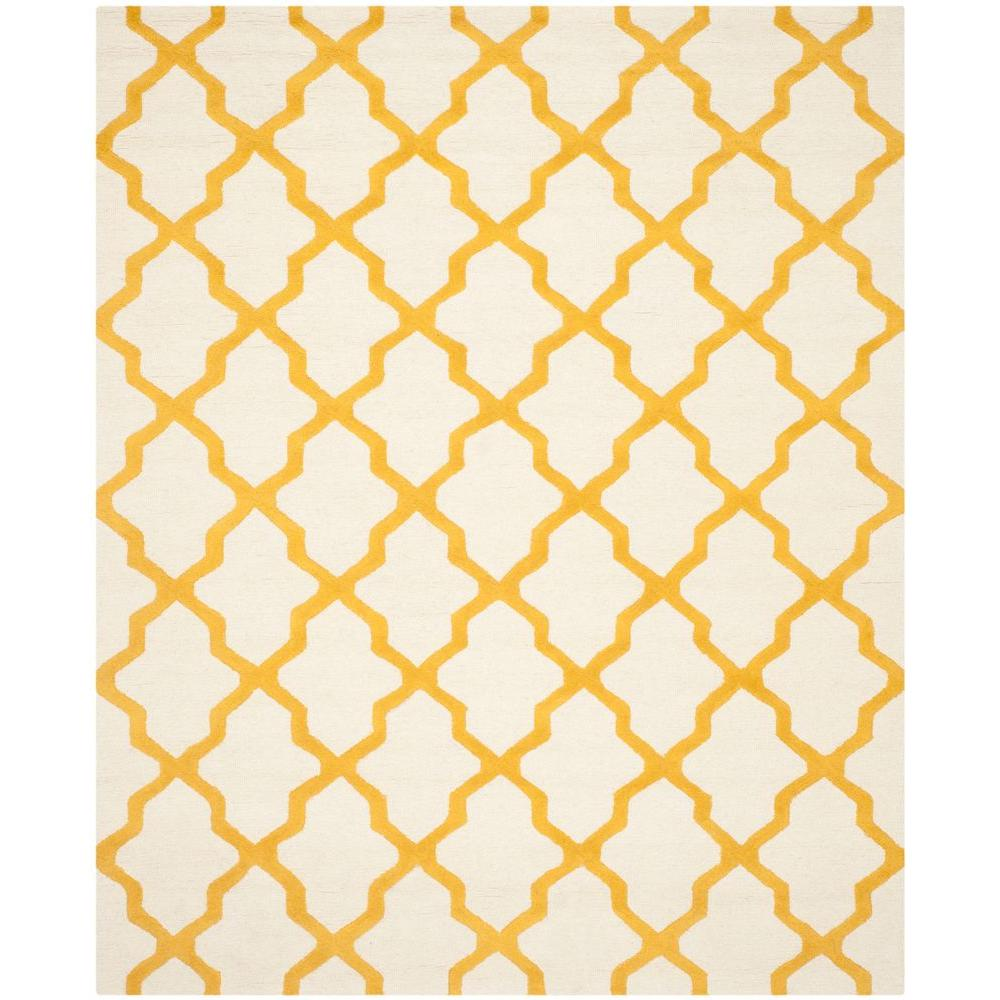 Cambridge Ivory/Gold 6 ft. x 9 ft. Area Rug