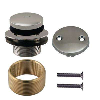 Universal Tip Toe Tub Waste Trim Kit in Satin Nickel