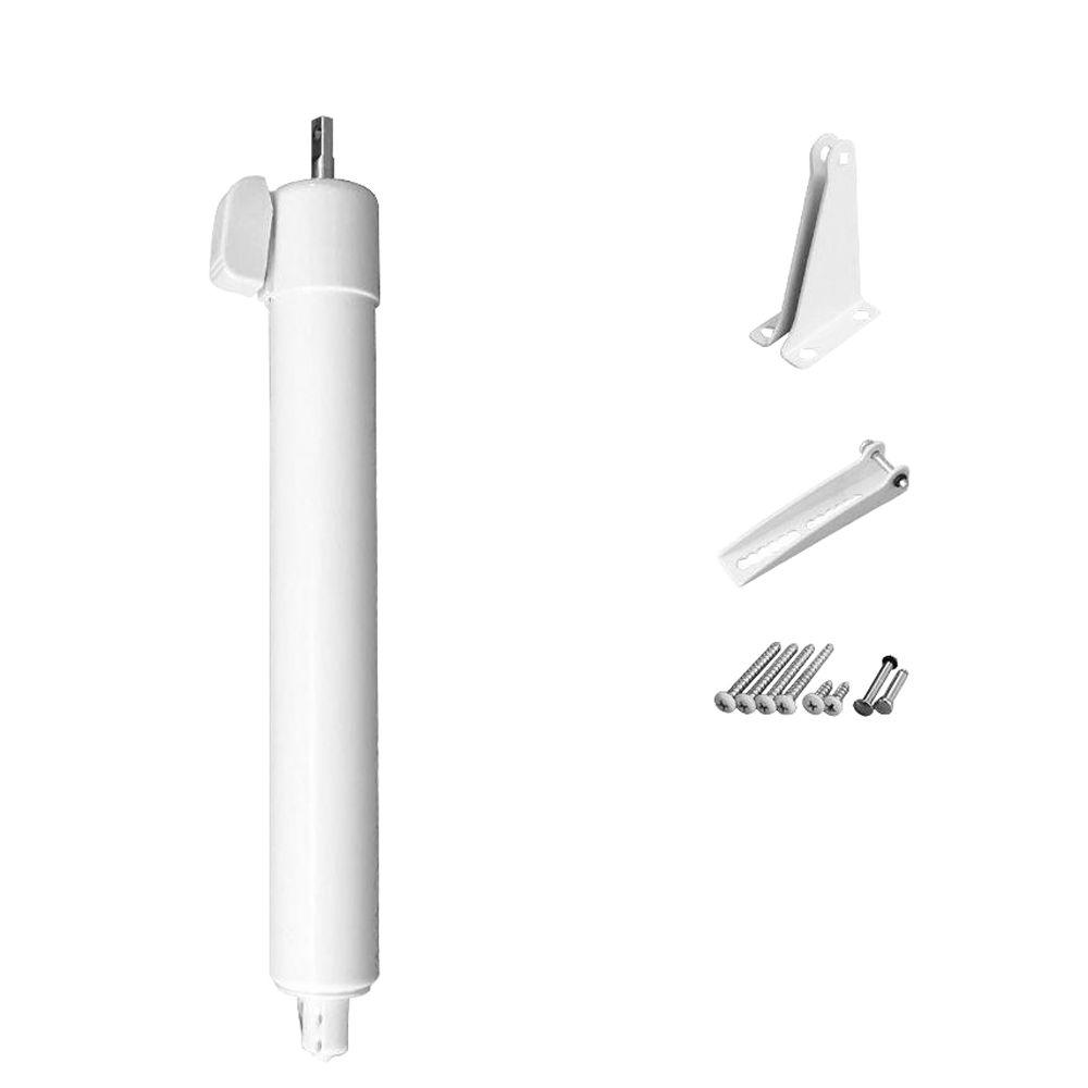 Greenstar Touch'n Hold Heavy Duty Pneumatic Screen, Storm and Security Door Closer Single Kit - White