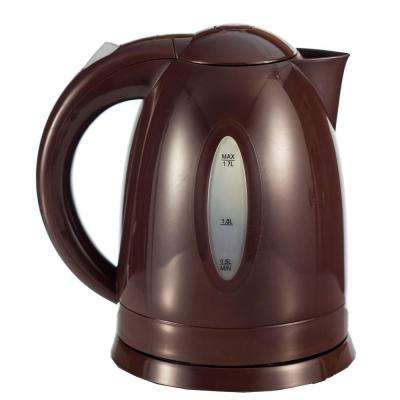 7.5-Cup BPA-Free Cordless Brown Plastic Electric Kettle
