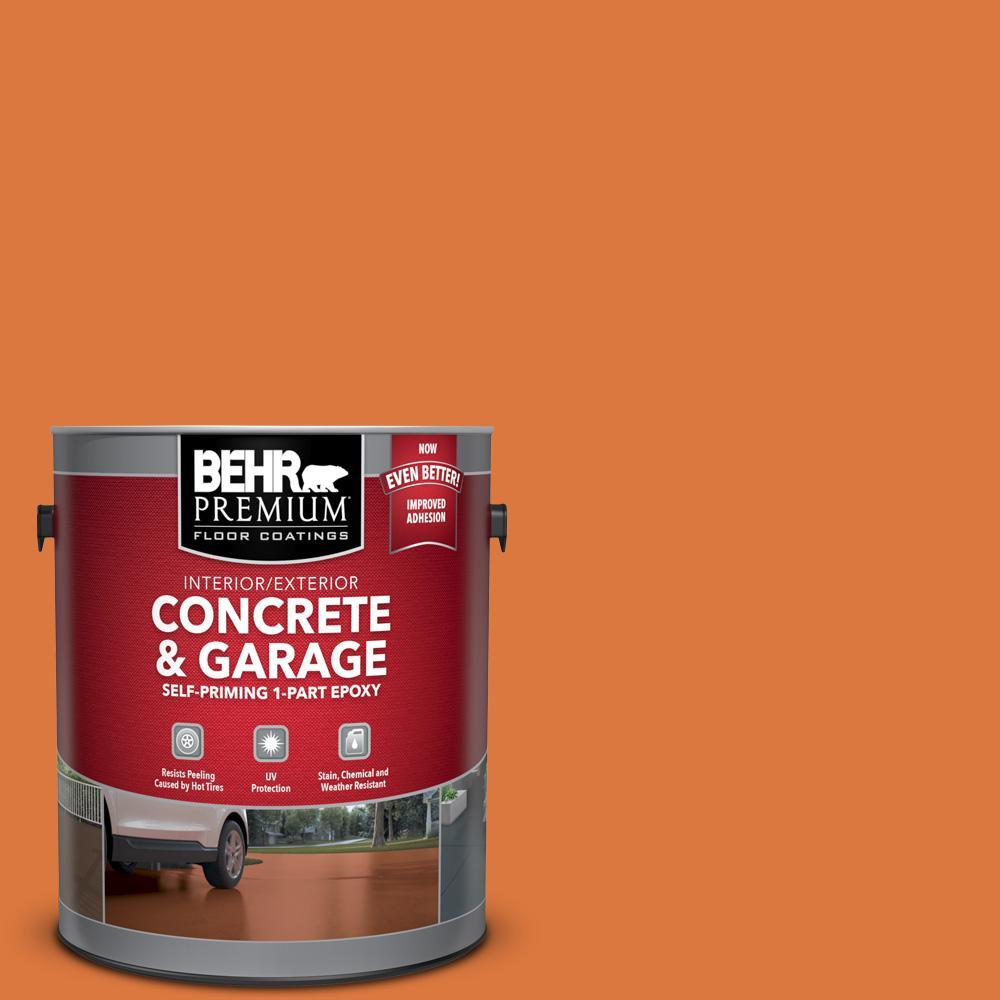 BEHR Premium 1 gal. #P210-7 Japanese Koi Self-Priming 1-Part Epoxy Satin Interior/Exterior Concrete and Garage Floor Paint