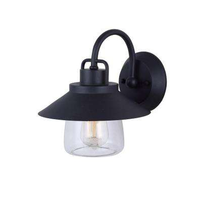 Colorado 1-Light Black Outdoor Wall Lantern with Clear Glass